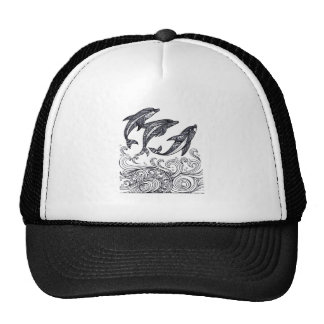 Dolphins Jumping Trucker Hat