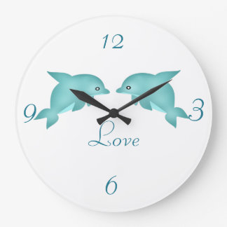 Dolphins Large Clock