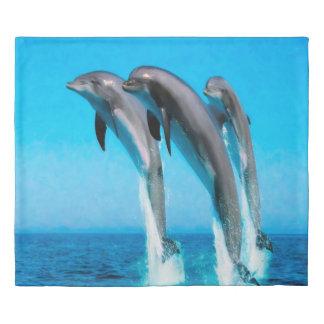 Dolphins Marine Life Ocean King Duvet Cover