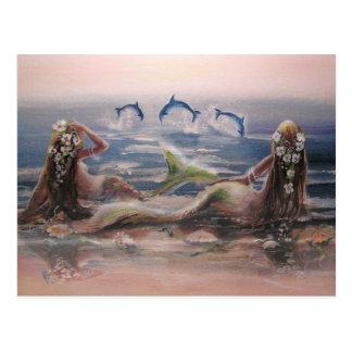 Dolphins & Mermaids Postcard