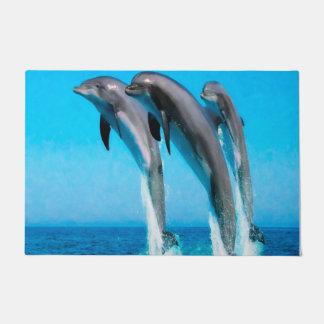 Dolphins Nautical Ocean 24 x 36 Door Mat