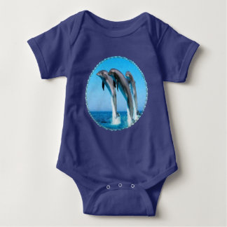 Dolphins Nautical Ocean Baby Bodysuit