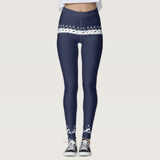 Dolphins Navy and White Leggings