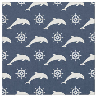 Dolphins On Parade Pattern Fabric