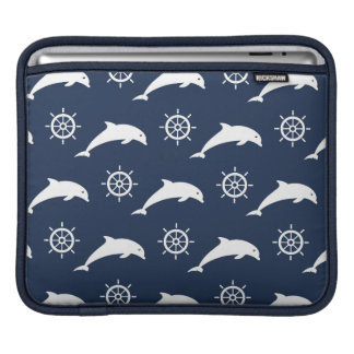 Dolphins On Parade Pattern iPad Sleeve