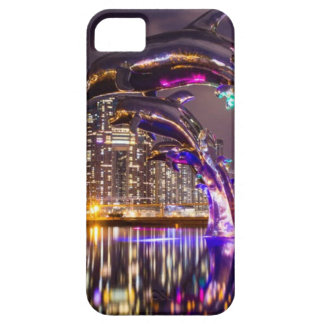 Dolphins on Urban Background Landscape Case For The iPhone 5