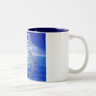 dolphins, Onto the seaOnto the seaI sailed my b... Two-Tone Coffee Mug