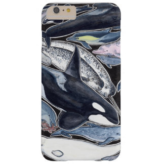 Dolphins, orcas, belugas and narvales barely there iPhone 6 plus case