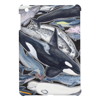 Dolphins, orcas, belugas and narvales case for the iPad mini