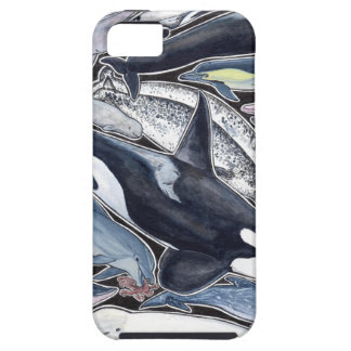 Dolphins, orcas, belugas and narvales case for the iPhone 5