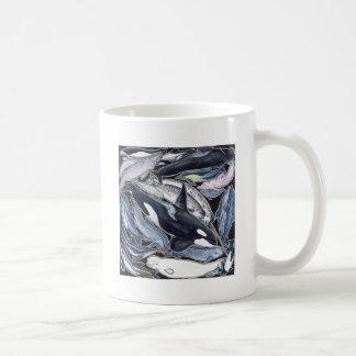 Dolphins, orcas, belugas and narvales coffee mug