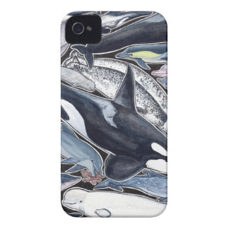 Dolphins, orcas, belugas and narvales iPhone 4 covers