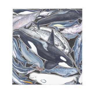 Dolphins, orcas, belugas and narvales notepad
