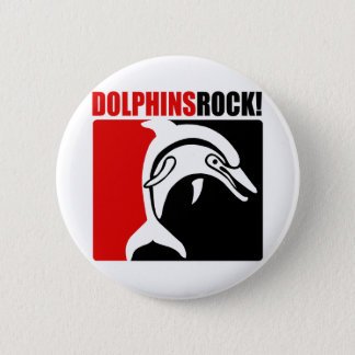 Dolphins Rock! #2 2 Inch Round Button