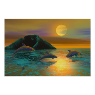 Dolphins (starts at $12,80) poster