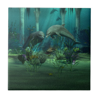 Dolphins Tile