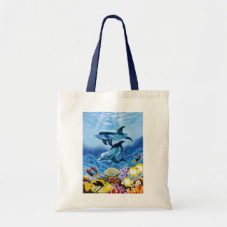 Dolphins Tropical Fish Tote Bag