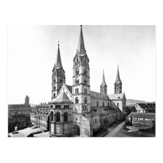 dom church bamberg cathedral 1880 germany postcard