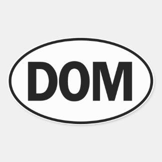 DOM Oval Identity Sign Oval Sticker