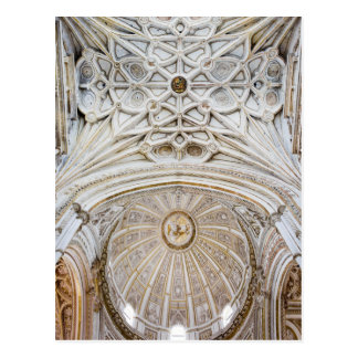 Dome and Vaulted Ceiling of Cordoba Cathedral Postcard