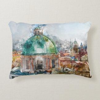 Dome in Prague Czech Republic Accent Pillow