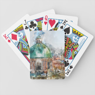 Dome in Prague Czech Republic Bicycle Playing Cards