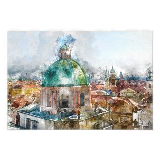 Dome in Prague Czech Republic Photo Print