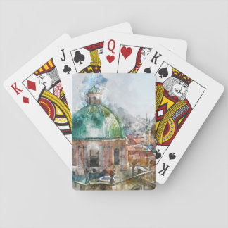 Dome in Prague Czech Republic Poker Deck