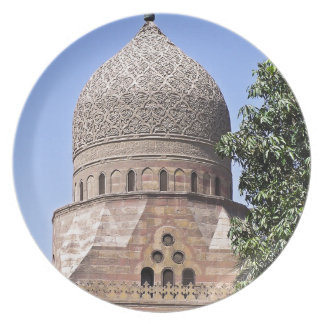 Dome of a mosque in Cairo Plate