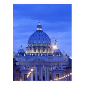 Dome of Saint Peter's Basilica at dusk Postcard