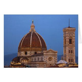 Dome of Santa Maria del Fiore Cathedral in warm Card