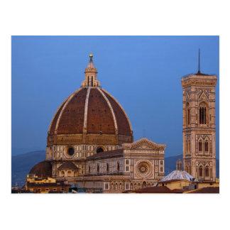 Dome of Santa Maria del Fiore Cathedral in warm Postcard