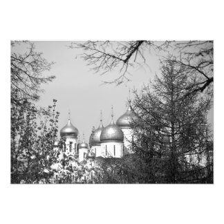 Dome of the Kremlin cathedrals. Photo Print