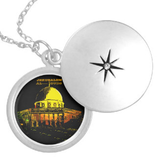 Dome of the Rock, Jerusalem Silver Plated Necklace