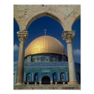 """""""Dome of the rock, Jerusalem"""" small poster"""
