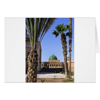 Dome of the Sultan Ali mosque in Cairo Card
