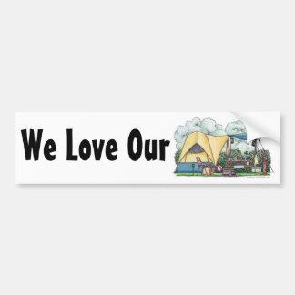 Dome Tent Camper Camping Bumper Sticker