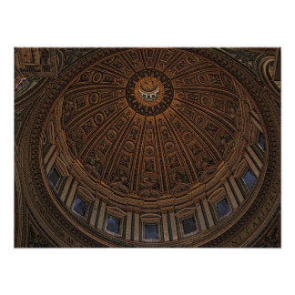 Dome to Heaven in St. Peter's Basilica Poster
