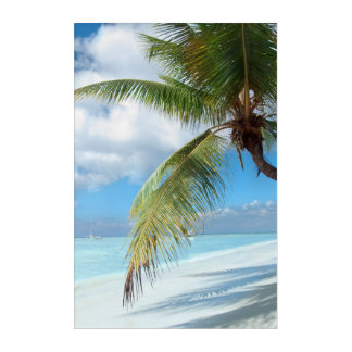 Domenicana beach acrylic print