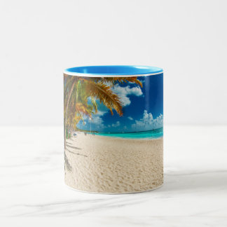 Domenicana beach Two-Tone coffee mug