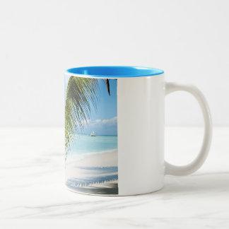 Domenicana beach Two-Tone coffee mug
