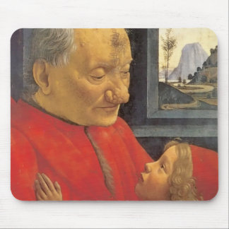 Domenico Ghirlandaio Old Man And Young Boy Mouse Pad