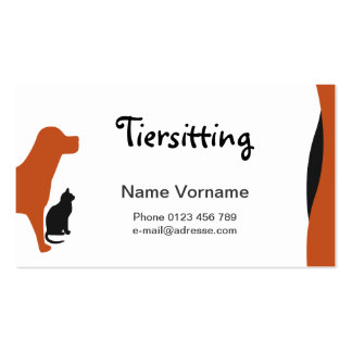 Domestic animal business card