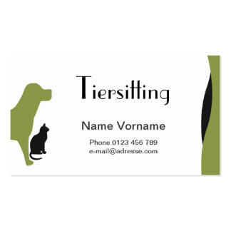 Domestic animal care business card template