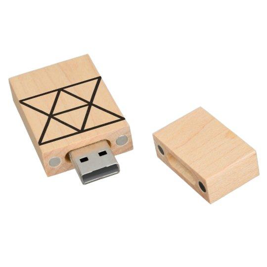 Domestic Diplomats Logo, 8gb, Maple Wood USB 2.0 Flash Drive