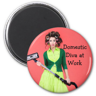 Domestic Diva at Work Picture Magnet