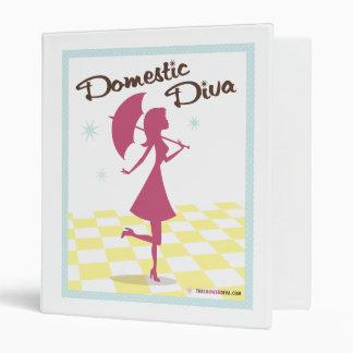 "Domestic Diva Recipe 1"" Binder"