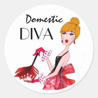 """""""Domestic Diva"""" Stickers"""
