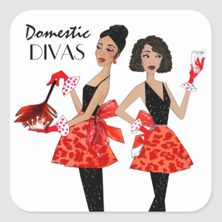 """Domestic Divas"" Stickers"