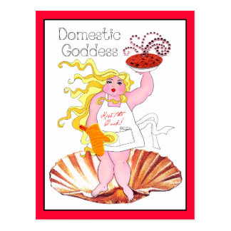 """Domestic Goddess"" - Kiss the Cook! Postcard"